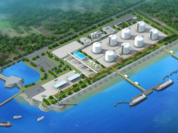 The city's first LNG emergency reserve station construction project